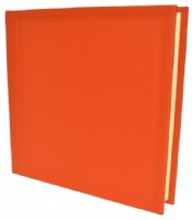 Orange Leather Photograph Album
