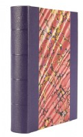 Ann Muir Hand-Marbled with Purple Leather Photograph Album